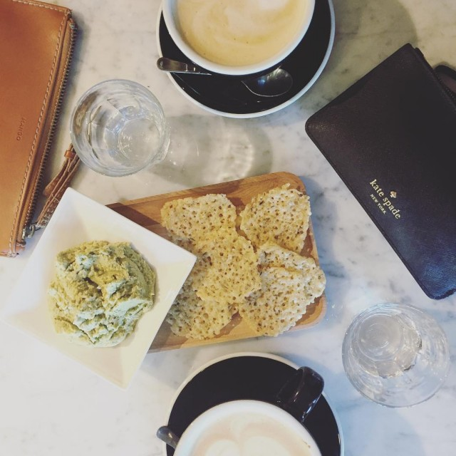 Perfect afternoon coffee date with my two favorites  jeanieelshellip