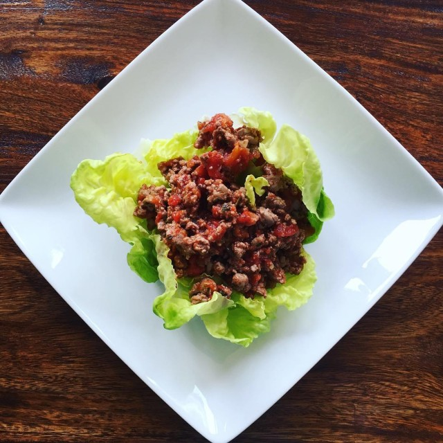 Taco salad lettuce bowl  quick easy lunch to makehellip