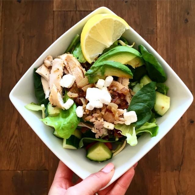 chicken amp avocado salad  love this salad! So freshhellip