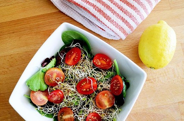 This summer salad on the blog today  chickpea tomatohellip