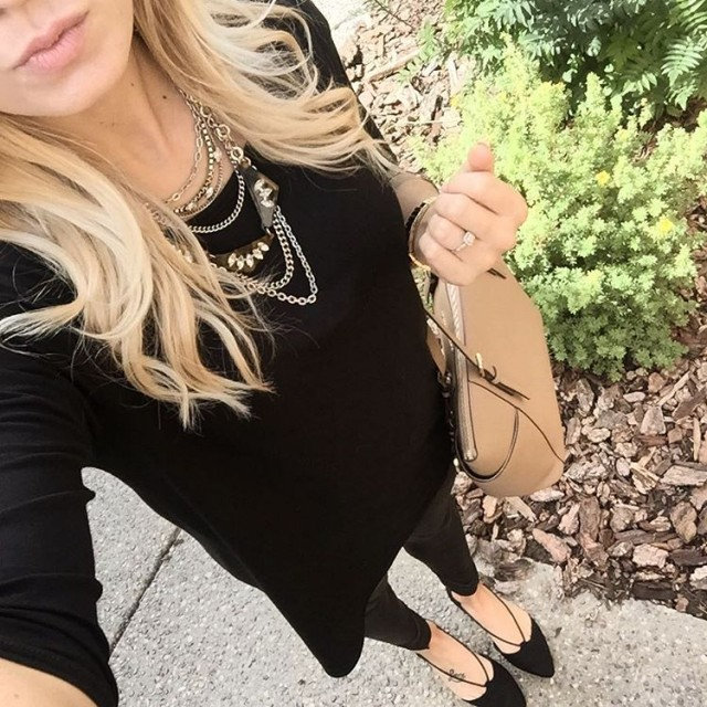 the throwtogether  faux leather leggings amp a big olhellip
