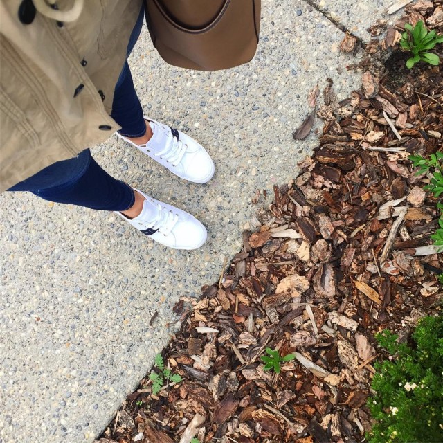 Tis the season for fall coats amp cute sneakers hellip