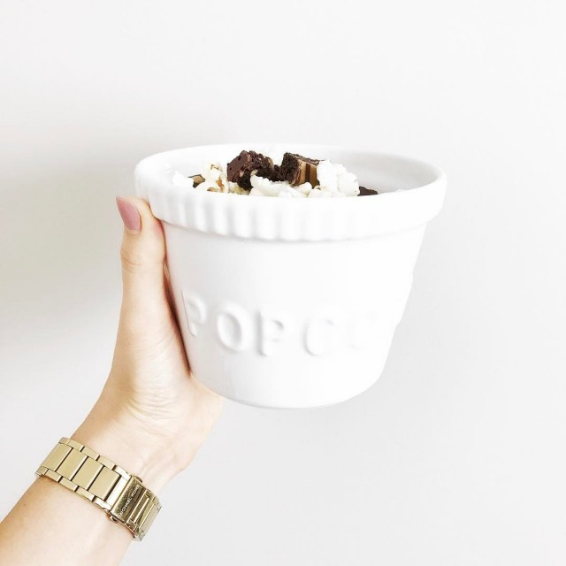 Sunday afternoons are made for a little popcorn topped withhellip