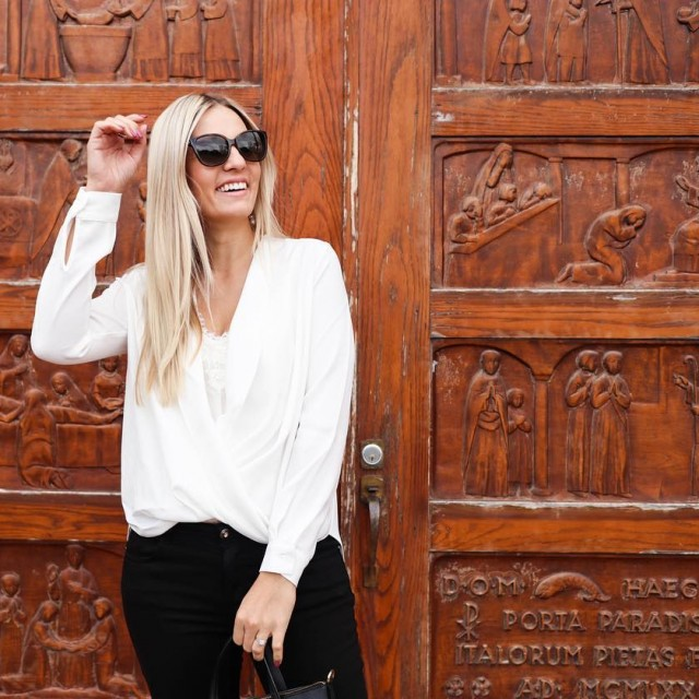 On the blog today!  this chic ivory chiffon blousehellip